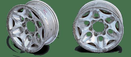 Автомобильные диски до пескоструйной обработки и металло-порошковой покраски