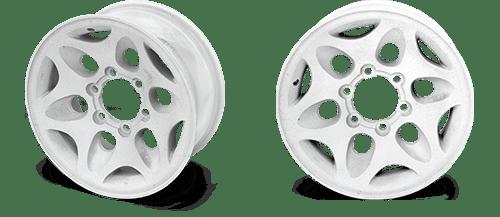 Автомобильные диски после пескоструйной обработки