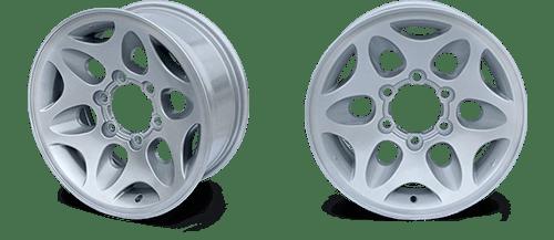 Автомобильные диски после металло-порошковой покраски